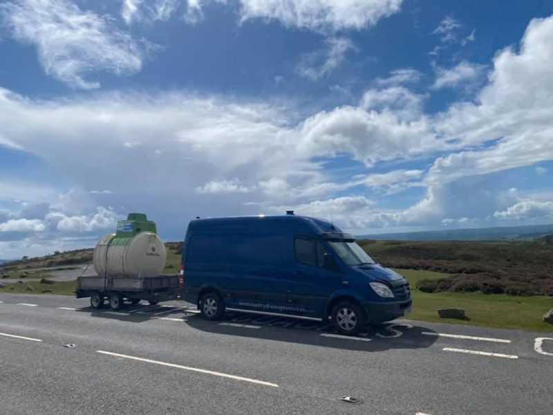 Work Van with a septic tank