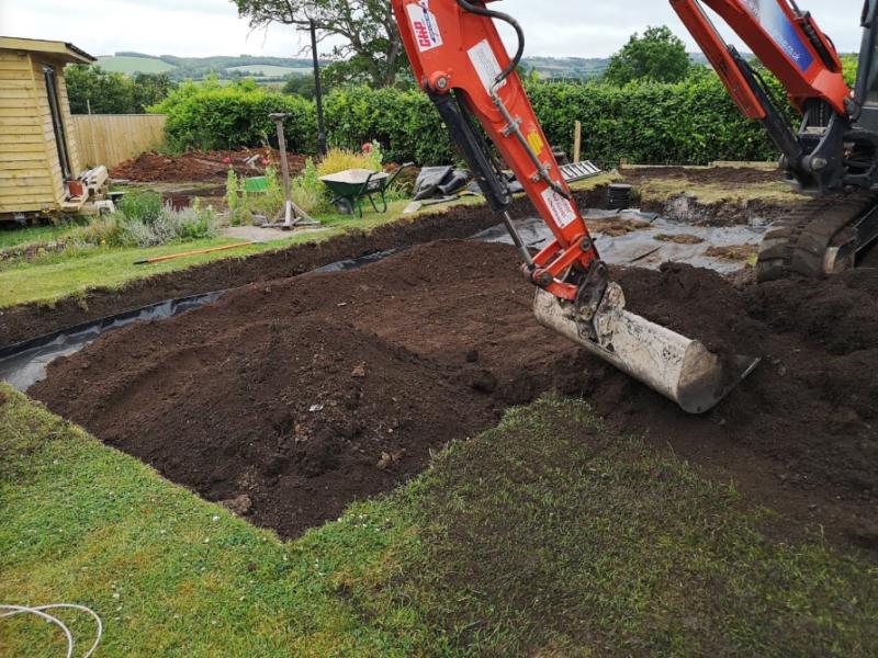 Digger hard at work