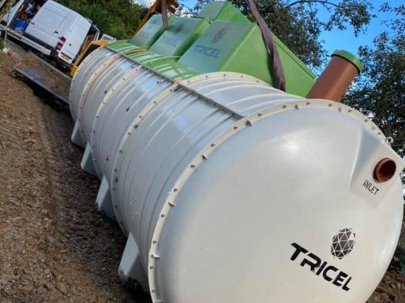 Tricel-18p-tank-installation